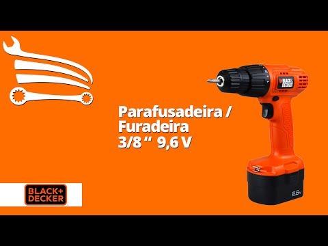 Parafusadeira/Furadeira a Bateria 9,6V 3/8 Pol. com Carregador Bivolt - Video
