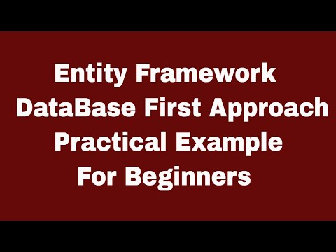 C# | Entity Framework 6 | DataBase First With Practical Example For Beginners