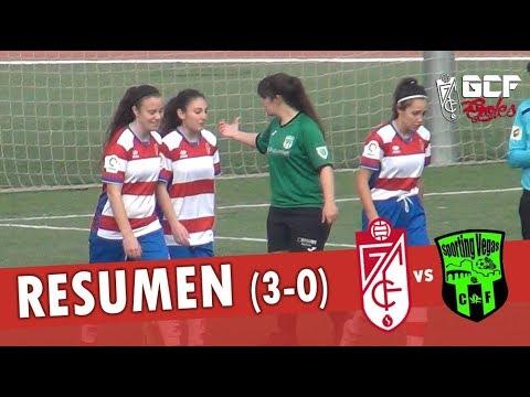 Granada CF 'B' Femenino Sénior 3-0 Sporting Club Vegas del Genil   Resumen y goles [HD]