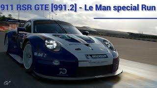 Gran Turismo Sport   Porsche 911 RSR GTE [991.2] ( Rothman Porsche Team 2018 ) Le Man special Run