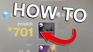 HOW TO GET BELOW 750 LIGHT EASY ! | Destiny 2