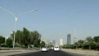 preview picture of video 'Approaching Kuwait City downtown from the port area on Road 80.'