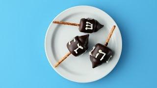 Chocolate-Dipped Marshmallow Dreidels- Martha Stewart