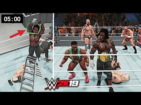 WWE 2K19 - Can R-Truth Survive 5 Strongest Superstars in 5 Minute 24/7 Championship Ladder Match?