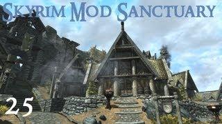 Skyrim Mod Sanctuary 25 - A Better Whiterun, Realistic Lighting, HD Fix, Shadow Striping fix