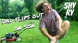 Dad Flips Out on Son