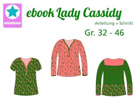 Nähanleitung Lady Cassidy Bluse aus Webware nähen