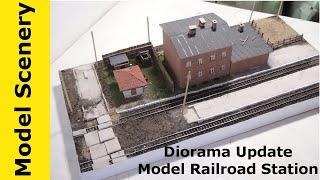 Diorama Update Model Railroad Station Ideas Tips Hints
