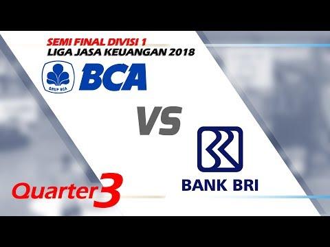 Q3 BCA vs  BRI Semi Final Liga Jasa Keuangan 2018