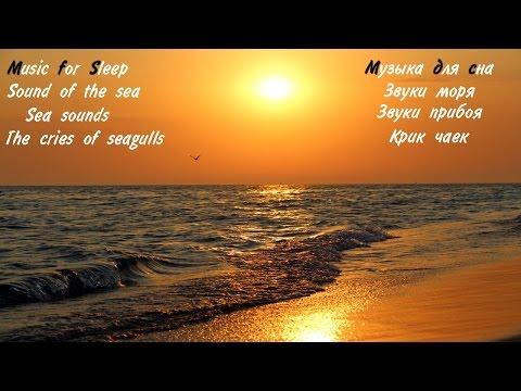 Шум моря, крик чаек, звуки прибоя, звуки моря, музыка для сна. Sound of the sea, the cry of gulls