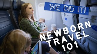 Flying with a Newborn Baby  👶🏻 ✈️  Travel Tips for Surviving Baby's First Flight