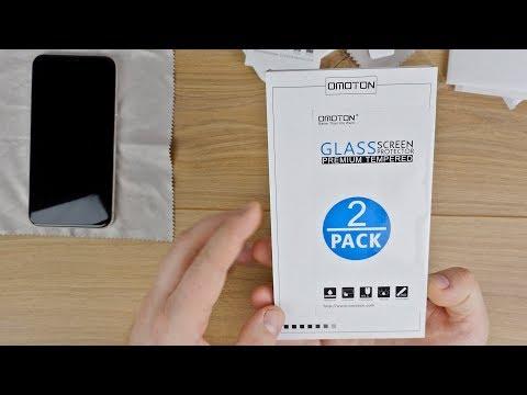 iPhone X Panzerglas Schutzfolie + POSITIONIERHILFE von Omoton // anbringen & erster Test // DEUTSCH
