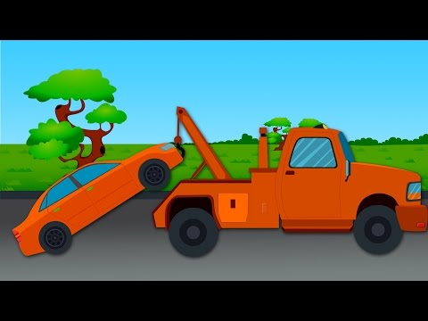 Tow Truck Color Ride | Color Song For Children | Toy Surprise Tow Truck Unboxing | learn vehicles
