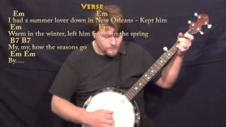 Ex's & Oh's (ELLE KING) Banjo Cover Lesson with Chords/Lyrics
