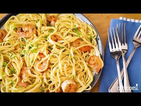Video Shrimp Recipes - How to Make Shrimp Scampi with Pasta