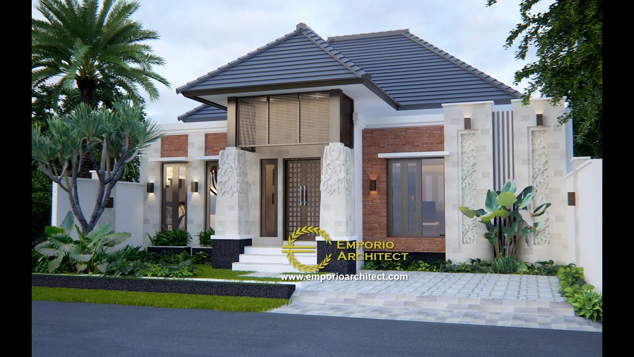 Video 3D Mrs. Efa Villa Bali House 1 Floor Design - Nusa Tenggara Barat