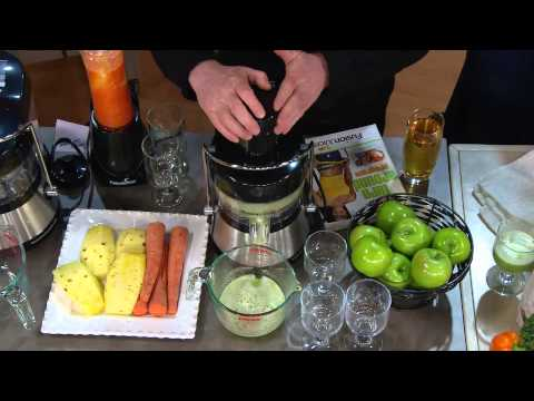 Fusion Juicer Whisper Quiet Stainless Steel Juicer with Fusion Booster with David Venable