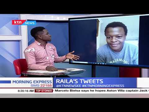 Raila's tweet causes spark online, many question account handlers