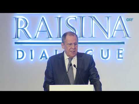 Sergey Lavrov, Foreign Minister of Russia, at Raisina Dialogue 2020