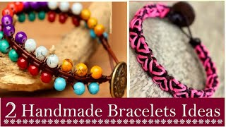 2 Handmade Beaded Bracelet Ideas For Girls  How To Make Bracelet At Home   DIY Jewelry  Creation&you
