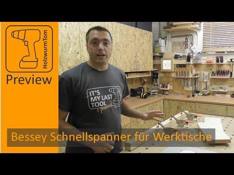 Bessey STC HH70 - Super Schnellspanner für den Werktisch Frästisch (MFT)