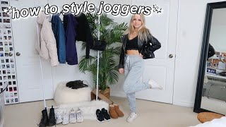 HOW TO STYLE JOGGERS | 13 Outfit Ideas