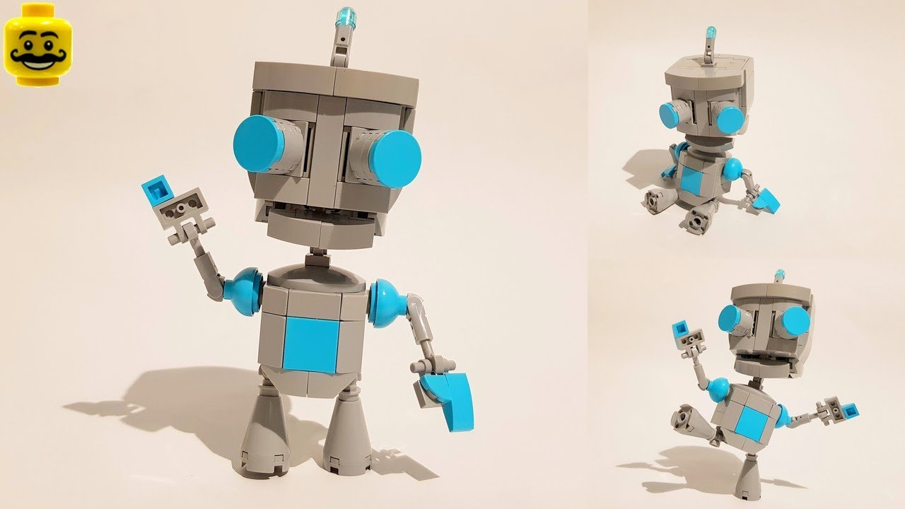 Building Gir from Invader Zim with LEGO
