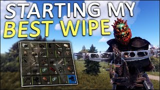 STARTING my GREATEST WIPE EVER! - Rust Solo #1