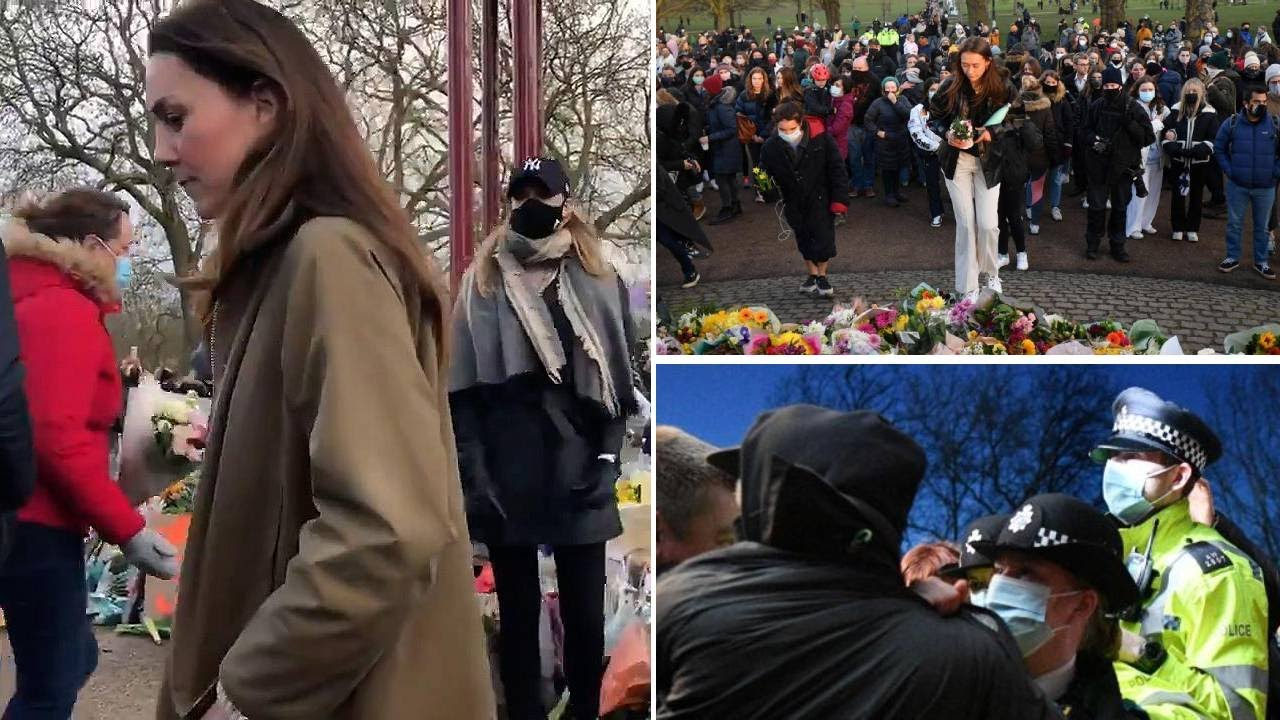 Image of Sarah Everard vigil: Home Secretary demands 'full report' from Met Police after clashes on Clapham Common