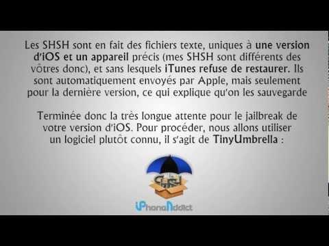 comment retrouver shsh sur cydia