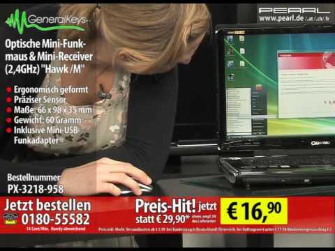"""GeneralKeys Optische Mini-Funkmaus 2.4GHz mit Mini-Receiver """"Hawk /M"""""""