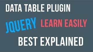Jquery Datatable Tutorial | Fetch data from MySQL Database Table