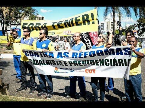Бразилия. Трудящиеся против реформ Темера