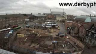 preview picture of video 'Derby Quad, Timelapse construction of the building'