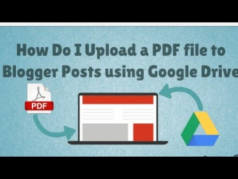 How To upload a downloaded file to blogger / upload PDF file to blogger