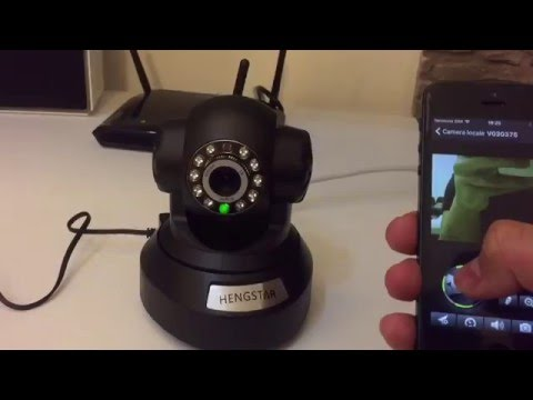 Videocamera Wifi di sorveglianza per iPhone Android PC ruotabile