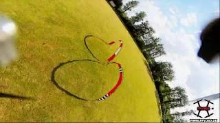 Racetrack onboard footage from my 580g heavy Polygon Freestyle HD DJI FPV Rig