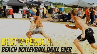 Beach Volleyball Drills for 2 People