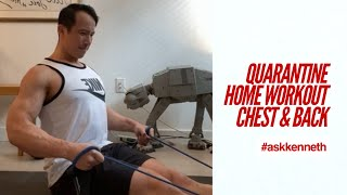 Chest & Back | Quarantine Home Workout