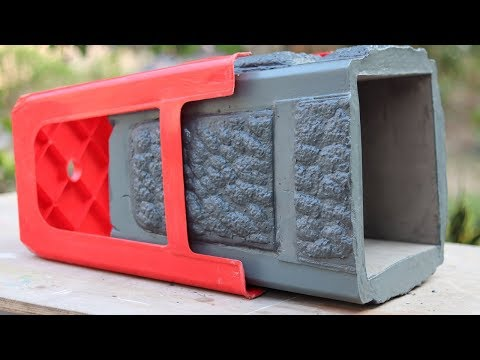 Casting cement pot from Plastic Chair - casting project