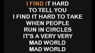 Gary Jules   Mad World (Karaoke)