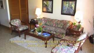 preview picture of video 'Beautiful Kauai Vacation Rental at the Beachfront Kiahuna Resort #303 at top rated Poipu Beach'