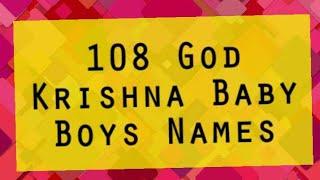 Download 108 God Krishna Baby Boys Names Hindi Kannada marathi