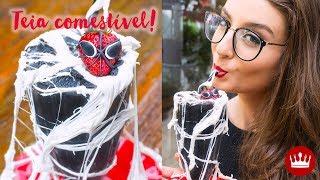 MILK SHAKE TEIA DE ARANHA com Spider-Man de MORANGO!   Cozinha do Bom Gosto   Gabi Rossi