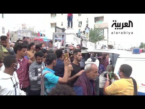 العرب اليوم - شاهد: آلاف اليمنيين يشيعون جثمان الصحافي نبيل القعيطي الذي اغتيل في عدن