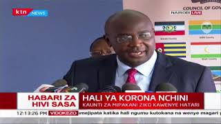 Council of governors wants national government supply counties with coronavirus testing kits