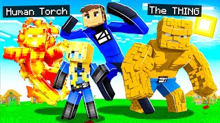 PLAYING as FANTASTIC FOUR in MINECRAFT! (superheroes)