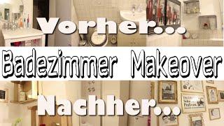 Badezimmer Makeover -  aus alt mach neu - DIY