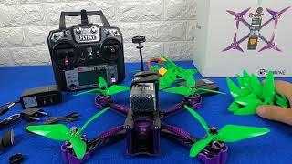Unboxing Drone Eachine Wizard X220S FPV Racer Omnibus KIT FPV Viewer EV800DM Eachine EV800DM