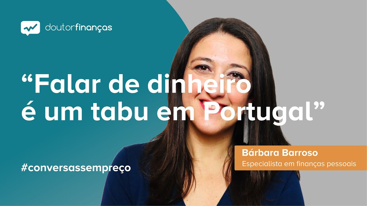 Imagem de um monitor onde se vê o programa Conversas sem Preço com a entrevista a Bárbara Barroso, especialista em literacia financeira